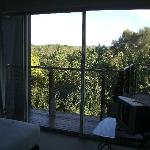 View from bedroom - has small analogue TV