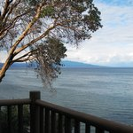 View from balcony - tide in