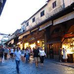 People on Ponte Vecchio