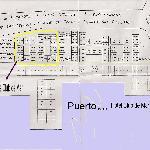 Plano del puerto. Ubicación Hotel y Apartahotel