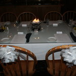 Elegant seating...all we added were our own centerpieces and bows