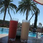 Delicious poolside drinks
