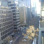 View from balcony over Queen Street