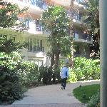Vue du square sur la résidence