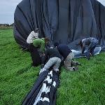Packing the balloon, great fun.