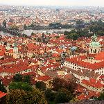 Over looking Prague, taken from the tower of St. Vitus.
