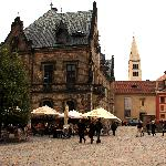 Small square within Prague Castle.