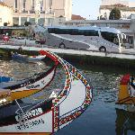 AVEIRO, area around the hotel with the traditional boats