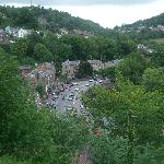 View of Matlock Bath from hotel front