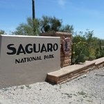 Entrance Sign Saguaro NP East