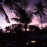 Sonnenuntergang am Chalet