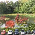 A view of the pond (thus the hotel name!) from a front-facing 3rd floor room - nice place for an