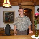 Gery Michel, gracious co-owner & co-manager of Chalet Hotel Gletschergarten, Grindelwald, Switze