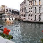 The Rialto Bridge from the patio
