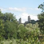 Las torres de San Gimignano desde el jardín