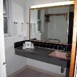 Bathroom sink area