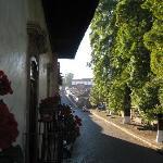 otra vista desde el balcon