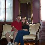 "My Wife and I in the ""honeymoon"" suite"
