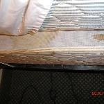 Stained and Uncovered Box Spring