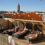 Relaxing on the roof terrace