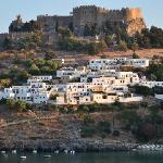 Lindos, the acropolis and Melenos