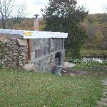 brick-firewood fed sauna house