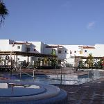 The upper swimming pools at Club Tarida Beach