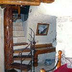 Fairy chimney suite, stairs to the bed room