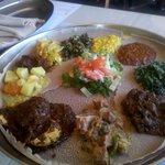 Taste of Ethiopian (Meat and Vegetarian) plates