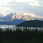 Scenery behind Abraham Lake