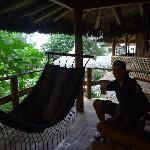 Hammocks on private balconies