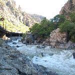 Bike trail runs underneath I-70 along Colorado River