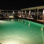 roof top pool @ night