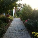 Walkway to main house from garden