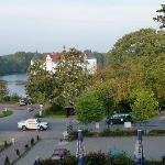 Blick vom Hotel auf das Wasserschloss