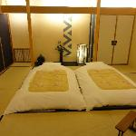 Room with traditional bed