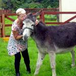 Noreen & her new donkey