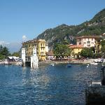 View of Varenna ferry port