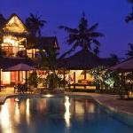 villa serenity by night