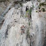 Me! Rock Climbing on the beach