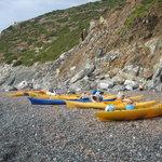 Le nostre canoe!!