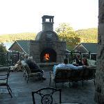 fireplace on terrace