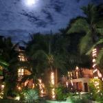 La Tortuga Hotel swimming pool at night