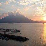Sakurajima volcano view from Tokyu Hotel