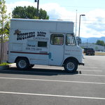 The catering truck is so cute!