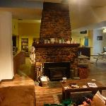 Check out the fire place.