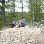 This is some of the mountain biking I did with Gerald and another guest