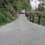 Steep road leading to the resort