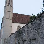 wall and belltower