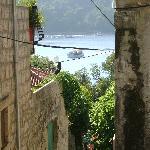 steep ,cobbled, narrow streets